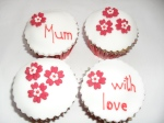 Flower Cupcakes Red & White