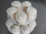 Wedding Cupcakes Ivory Butterflies & Flowers