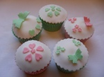 Wedding Cupcakes Pink  & Green