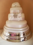 White Diamanté Wedding Cake